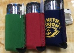 neoprene can cooler/stubby holder with pen holder